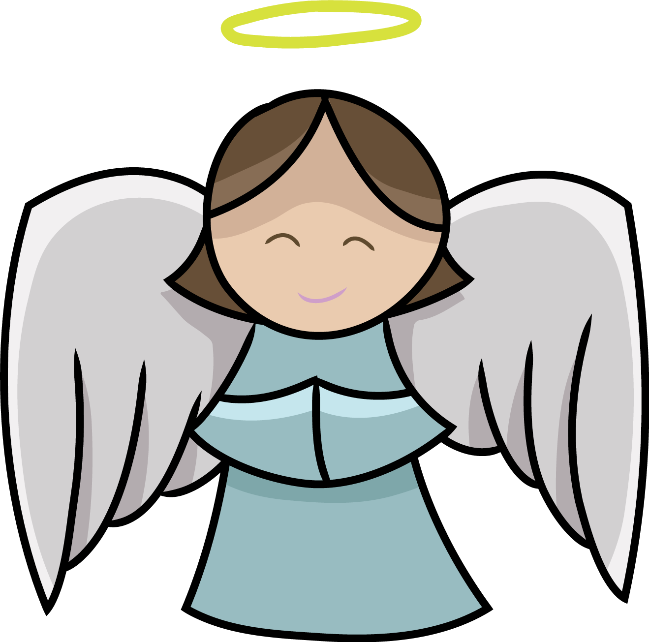 fun girl angel clipart #5