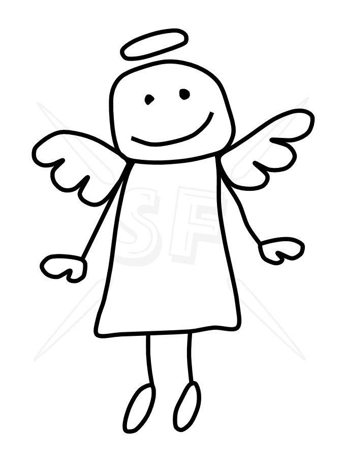 Angel picture clipart #7