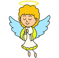 Angel picture clipart #10