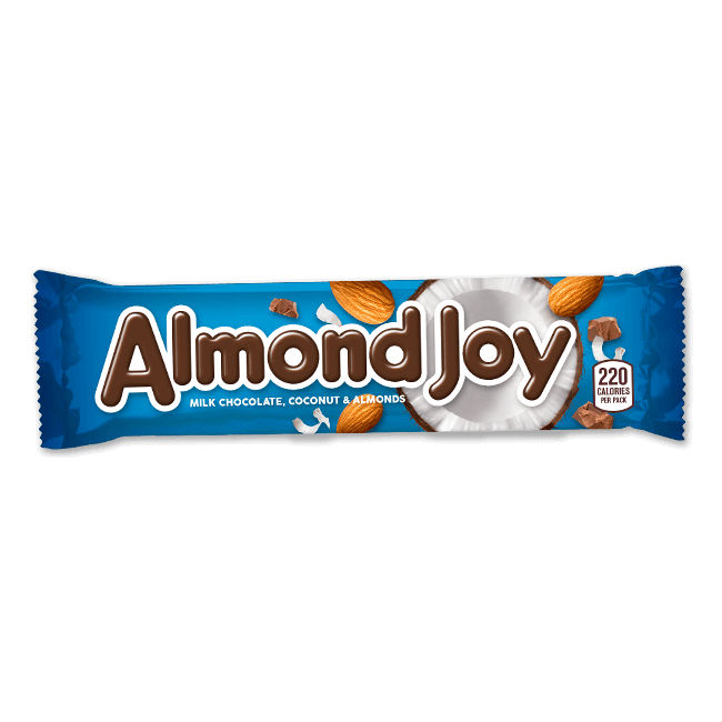 Hershey\'s, Almond Joy Bar.