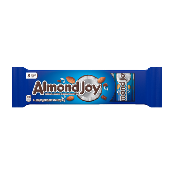ALMOND JOY Snack Size Candy Bars, 8 Pack, 4.8 oz.