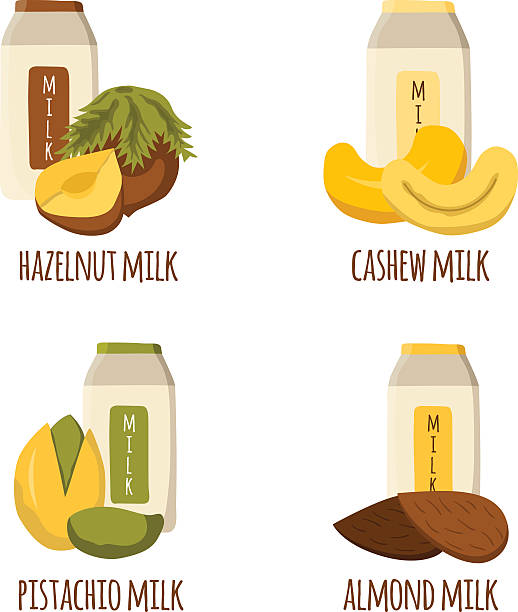 Best Almond Milk Illustrations, Royalty.