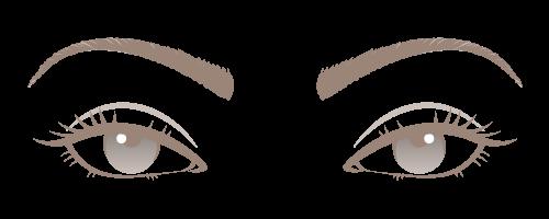 Almond Eyes Clipart.
