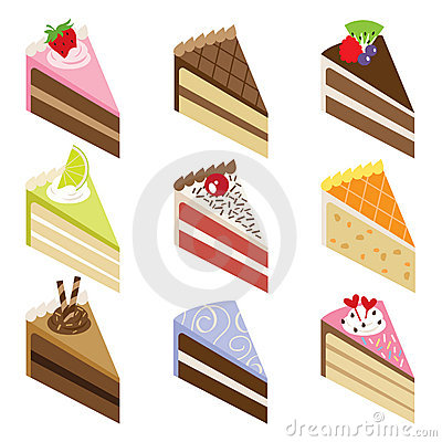 Cake slices clipart.