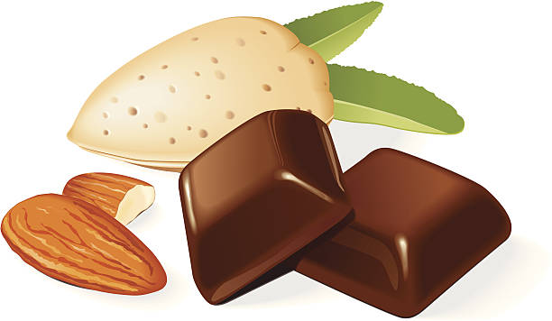 Almond Slices Clip Art, Vector Images & Illustrations.