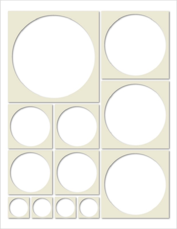 Mosaic Moments Circle Tiles Almond Cream.