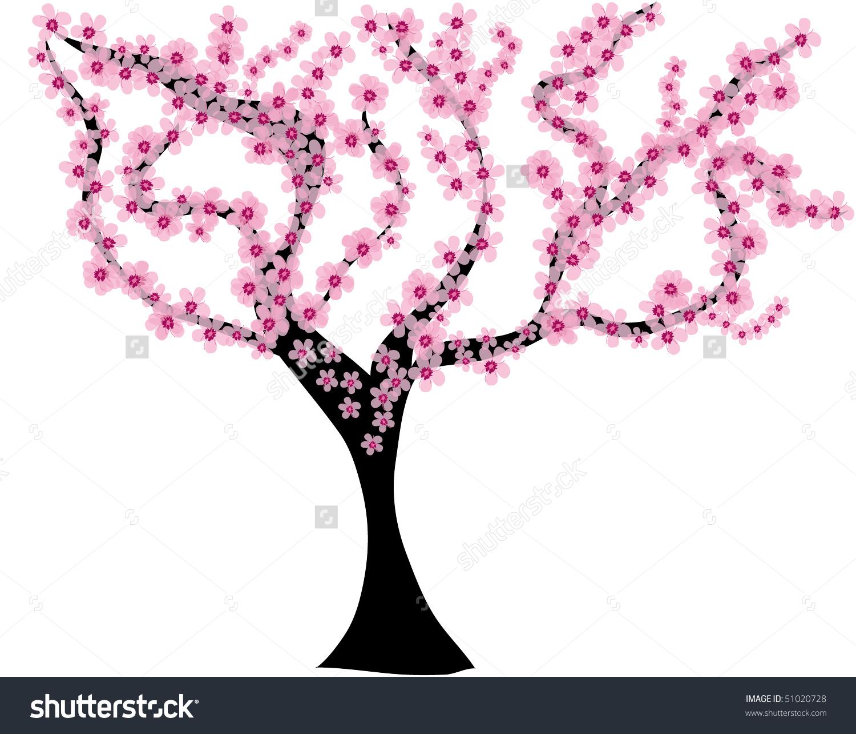 Almond Tree Stock Vector 51020728.