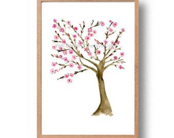 Tree of life art print tree painting Tree of life art.