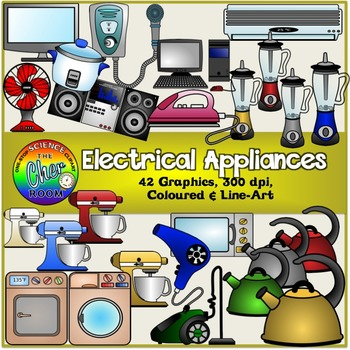 Electrical Appliances Clipart (Electronics, Gadgets, Home).