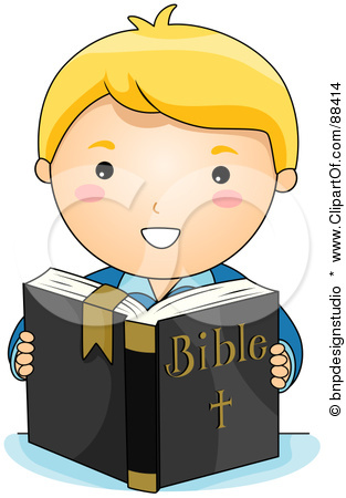 Boy With Bible Clipart.