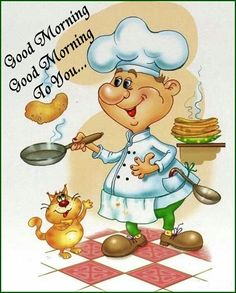 Good morning and good night clipart.