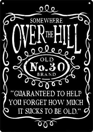 Over the Hill: Liquor Bottle.