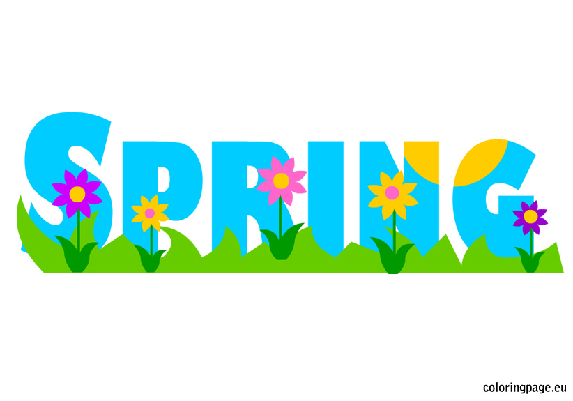 Graphics for spring break clip art.