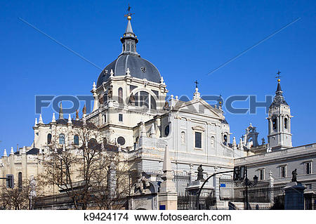 Stock Photo of Almudena Cathedral in Madrid k9424174.