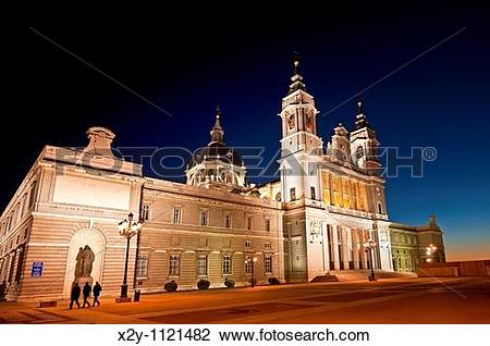 Stock Photo of The Almudena Cathedral, Madrid, Spain x2y.