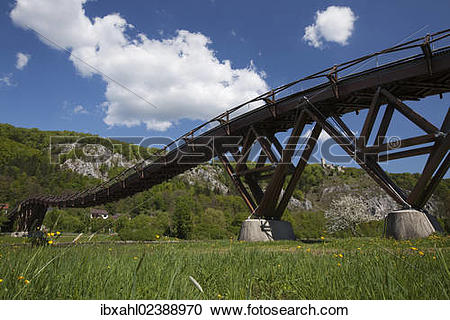 "Stock Photography of ""Bridge in Essing, Altmuehltal valley."