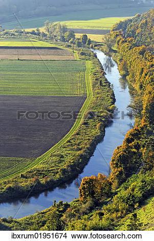 "Stock Photo of ""The Altmuehl river in Arnsberg, Naturpark."