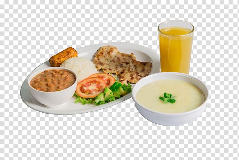 Full breakfast Vegetarian cuisine Lunch Soup Dish, almuerzo.