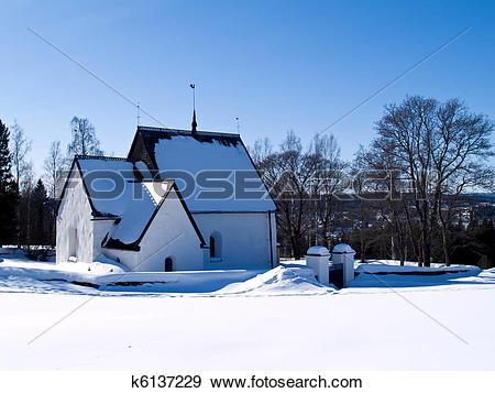 Stock Photograph of old church in Alno k6137229.