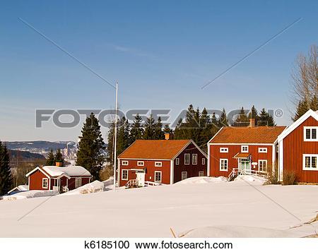 Stock Photography of street of Alno, Sundsvall k6185100.