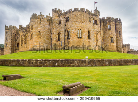 Alnwick Castle Stock Photos, Royalty.