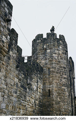 Stock Photograph of Battlements, Alnwick Castle x21836939.