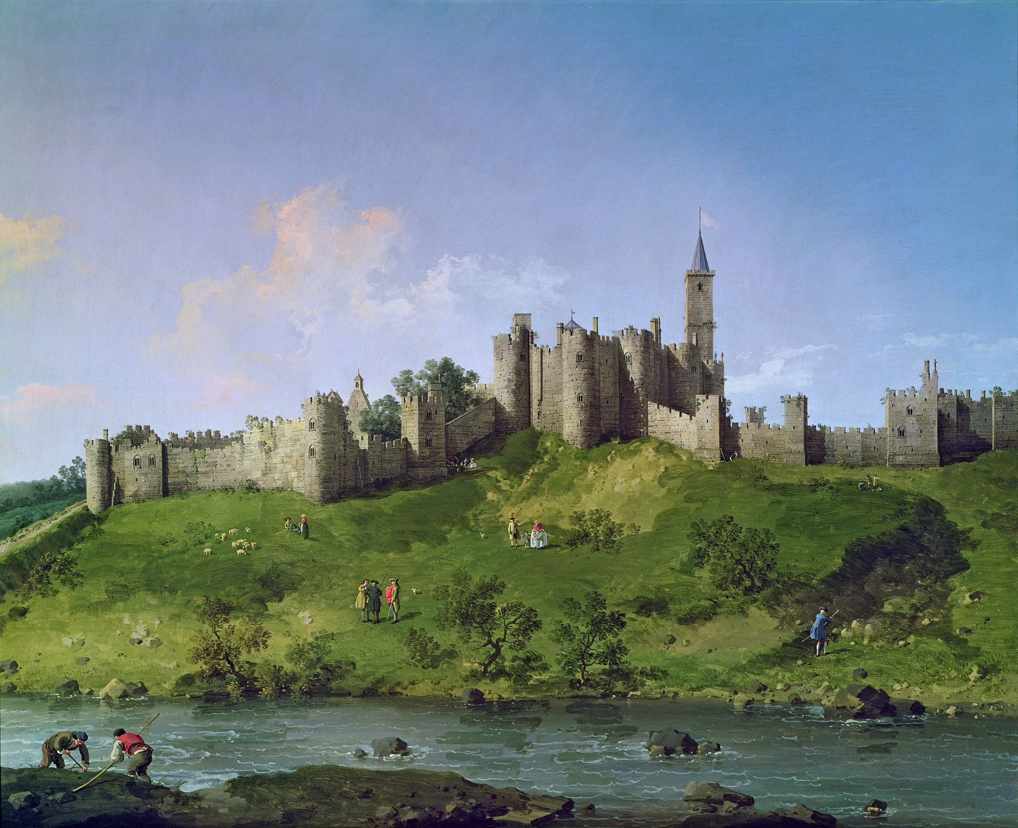 Painting of Alnwick Castle.