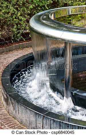 Stock Images of Water feature in Alnwick Castle gardens.