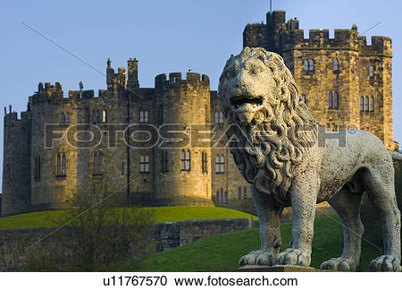Stock Photography of England, Northumberland, Alnwick, Alnwick.