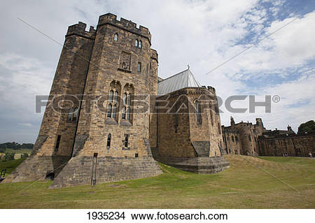 Stock Photo of The Alnwick Castle, Most Famously Known As Hogwarts.