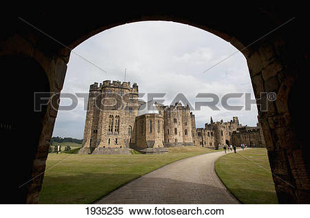 Stock Image of The Alnwick Castle, Most Famously Known As Hogwarts.
