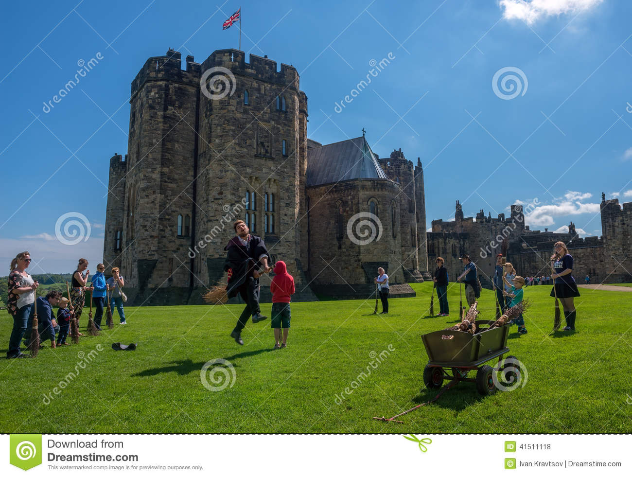 Harry Potter Broomstick Training At Alnwick Castle Editorial Stock.