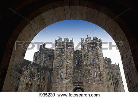 Stock Photography of The Alnwick Castle, Most Famously Known As.
