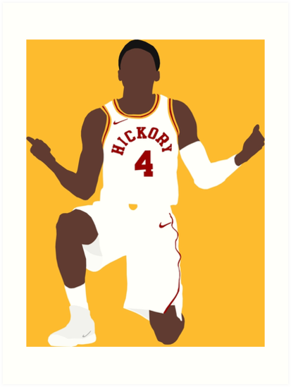 \'Victor Oladipo Hickory \' Art Print by RatTrapTees.