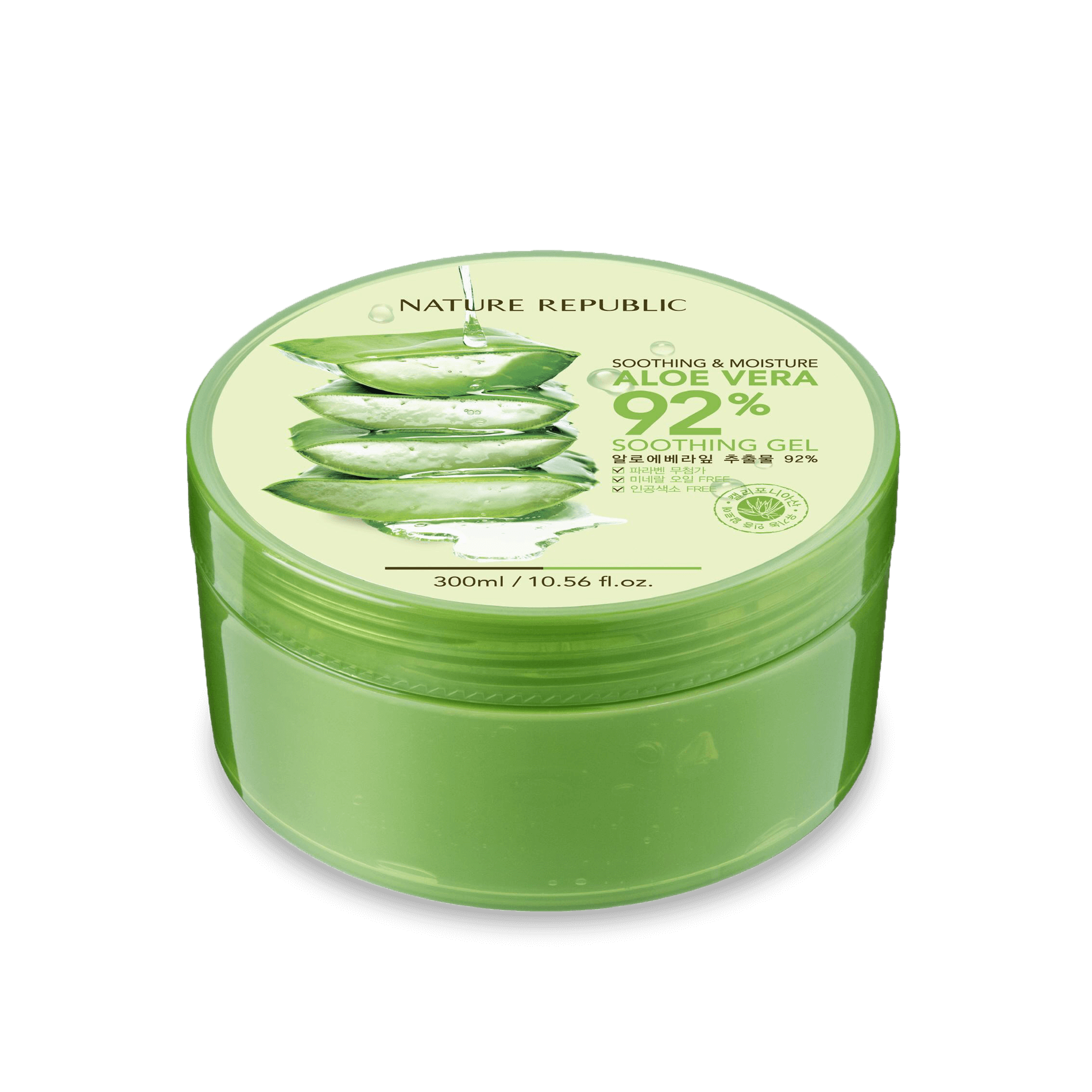 Nature Republic Soothing & Moisture Aloe Vera 92% Soothing Gel 300ml/10.56oz.