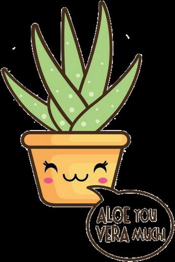 Aloevera Kawaii Plant Cute U Guys Reeeeal.