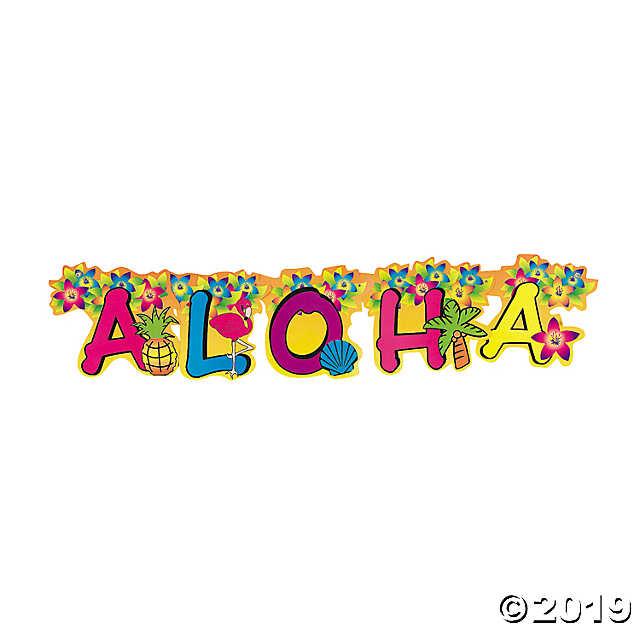Aloha Cardboard Jointed Banner.