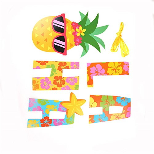 party supplies: Diyiming Pineapple Party Banner Aloha Banner.
