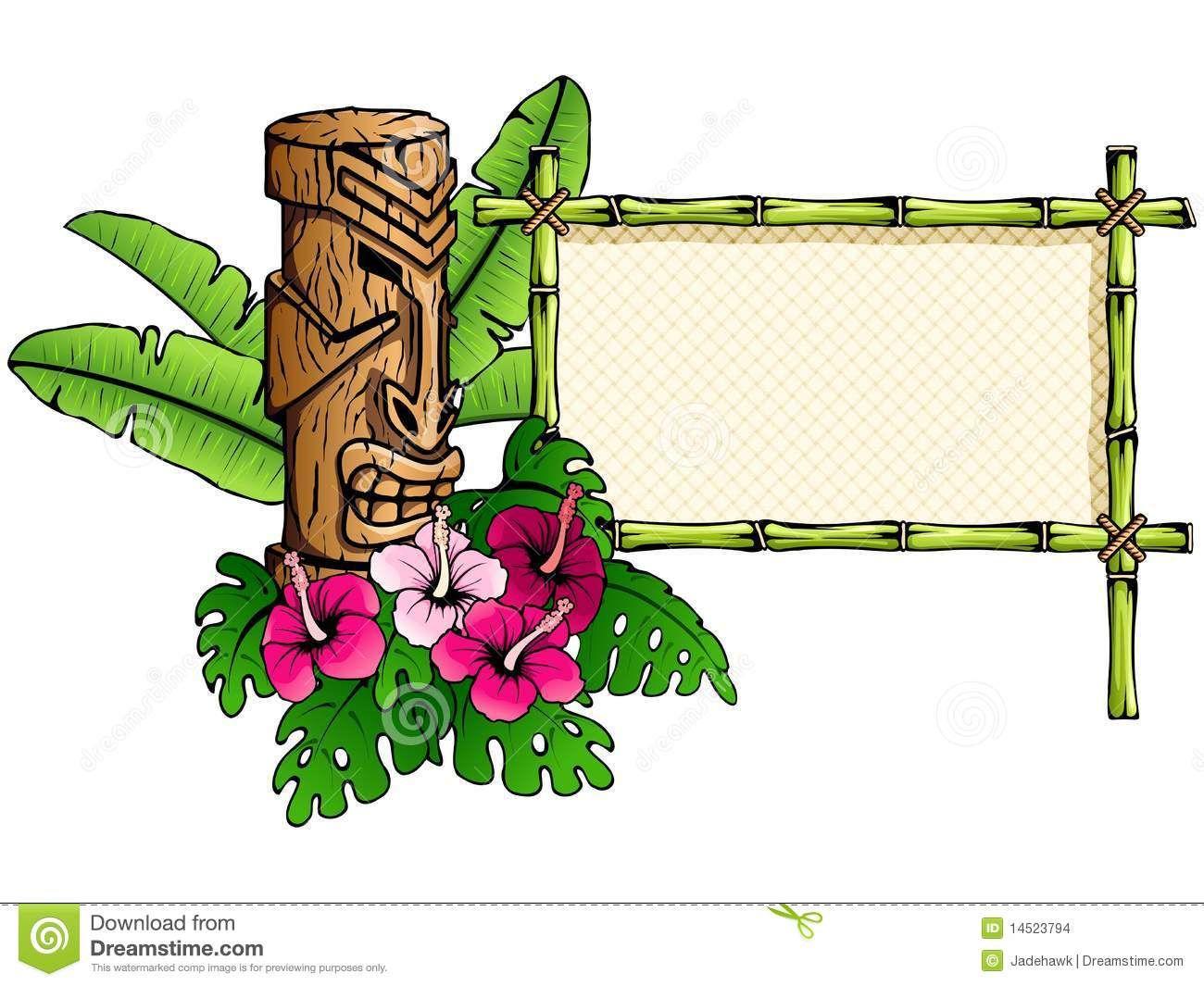 Hawaiian Tiki Clip Art Borders Clipart Panda Free Clipart.
