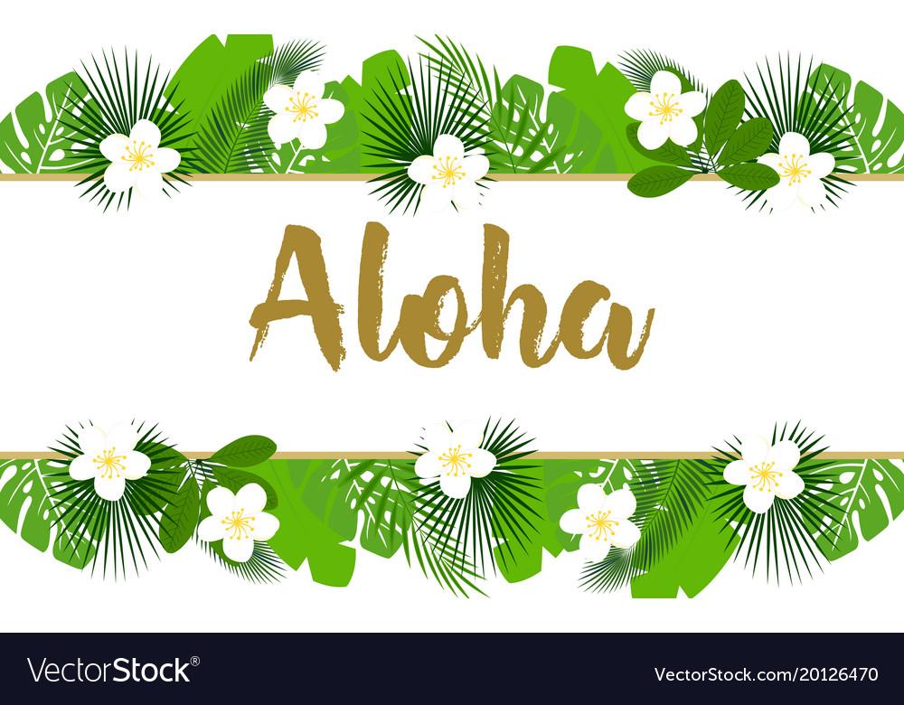 Exotic aloha banner.