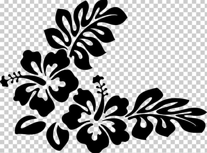 Hawaiian Flower PNG, Clipart, Aloha, Black, Black And White.