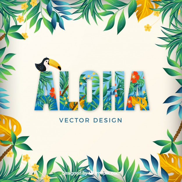Aloha hawaii summer relax vector pack.