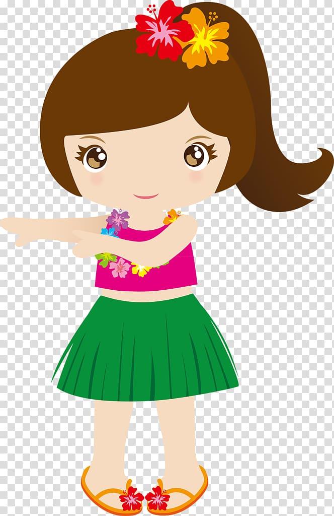 Girl in Hawaiian dress illustration, Hawaiian Punch , aloha.