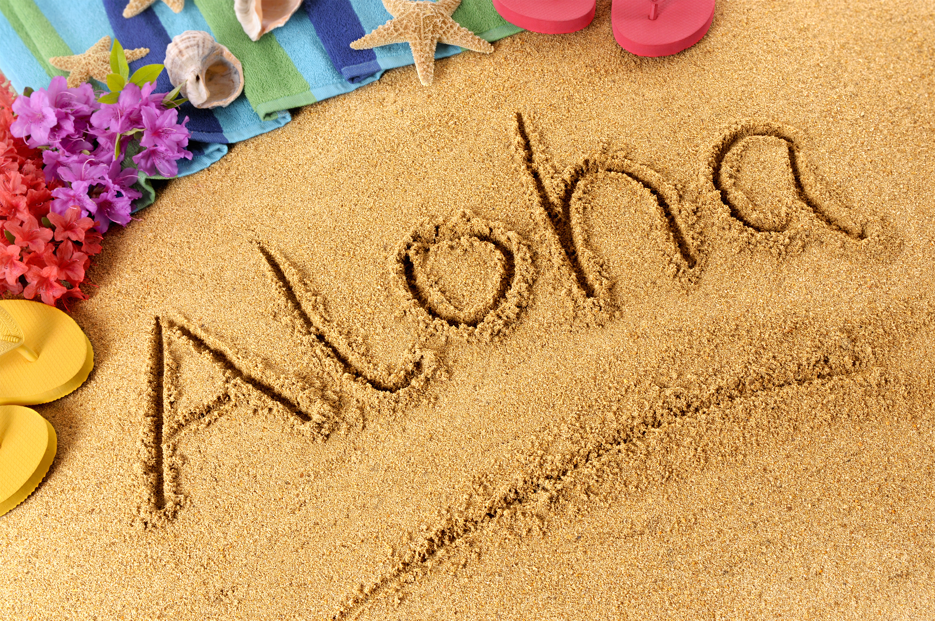 Aloha Sand Background.