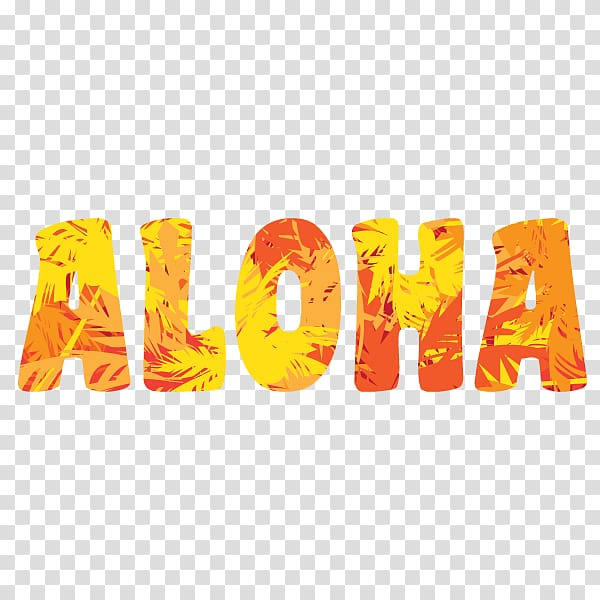 Sticker , aloha transparent background PNG clipart.