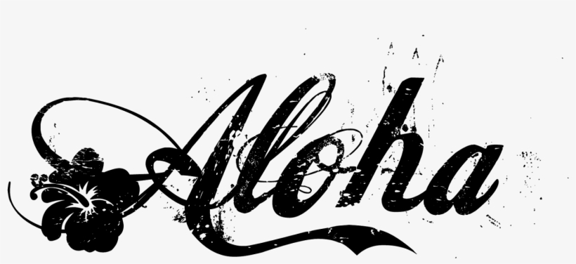 Aloha Black Text Picture.