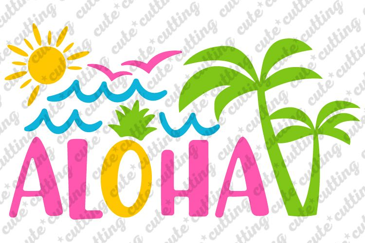 Aloha svg, Hawaii svg, Summer svg, dxf, png, pdf, jpeg.