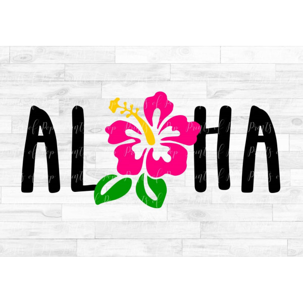 Aloha svg, Hibiscus Flower svg, Hawaii Flower clip art, svg, dxf.