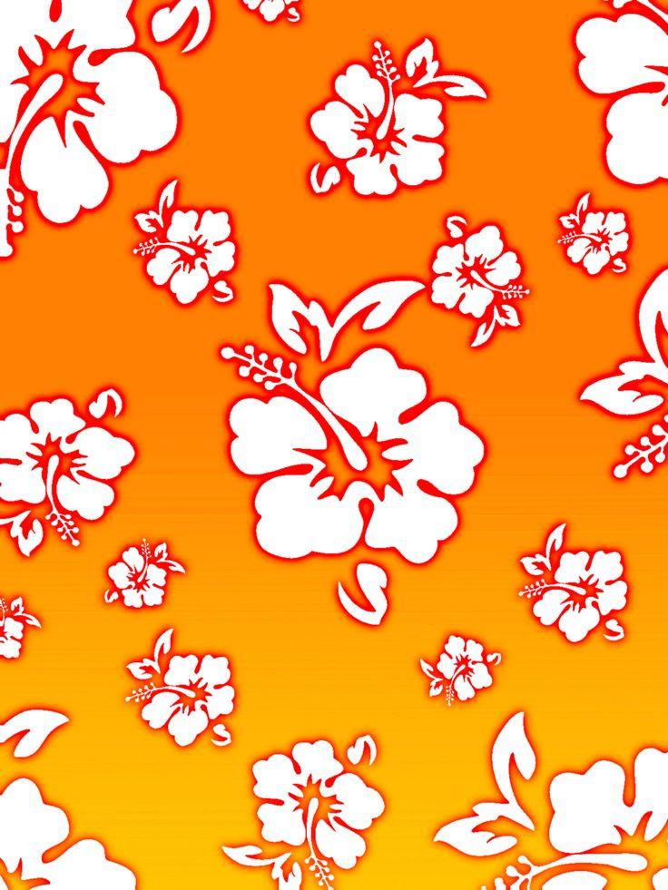 Orange Hawaiian Flower Clipart