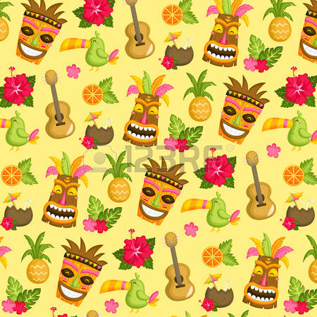 232 Luau Party Background Stock Vector Illustration And Royalty.